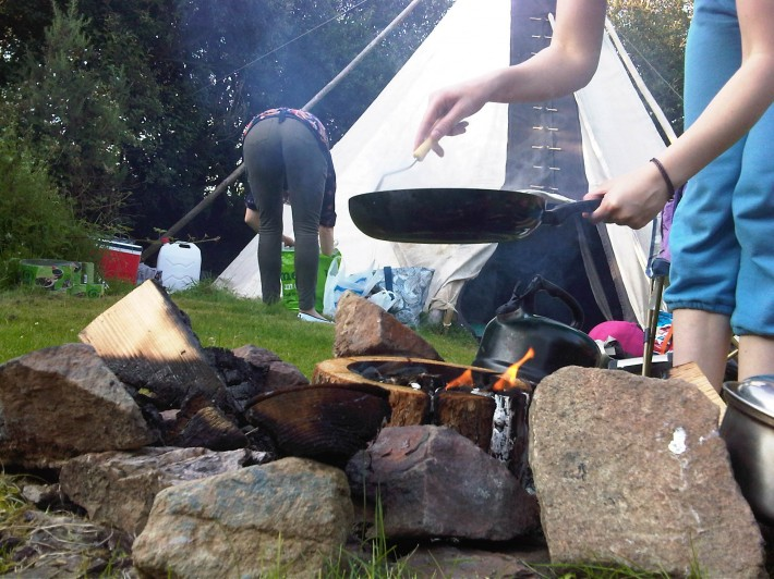 EcoGrill at Cornish Tipi Holidays